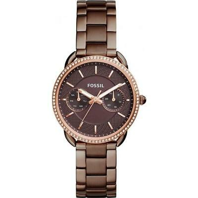 Tailor 1002 Es4258 Fossil Stainless Ans Garantie Steel Femme Montre Authentic eBrxoCd