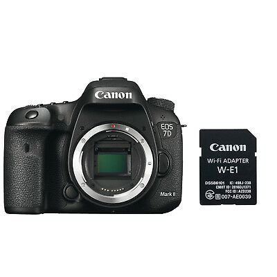 Canon EOS 7D Mark II Digital SLR Camera Body with W-E1 Wi-Fi Adapter