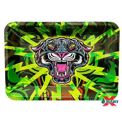 RYO BLACK PANTHER Cigarette Tobacco Metal Small Rolling Tray 7x5