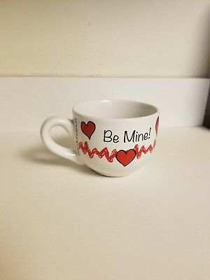 "2015 Peanuts-Charlie Brown Ceramic Coffee Soup Mug 14 oz. ""Be Mine"" Valentines"