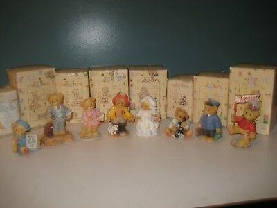 Cherished Teddies Charter Member Lot of 8 Figurines