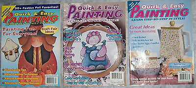 3-Quick & Easy Painting Magazines Fall 1998 March 1999 May 1999