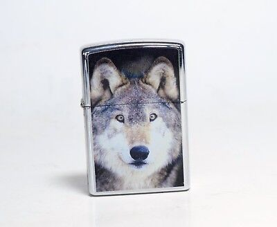 Wild Animals Hunter - Wolf ZIPPO Lighter Made in U.S.A Windproof Collectible 05