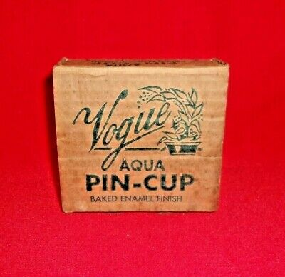 Beagle Mfg. Co. Vintage Vogue Aqua Pin Cup Flower Frog NEW OLD STOCK  NEW IN BOX