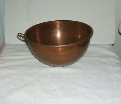 Vintage - Antique Copper Cauldron Kettle Round Bottom  England