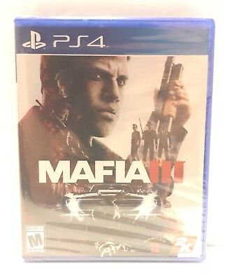 PS4 Mafia III -  PlayStation 4 Game Sony New Factory Sealed 2016 Mafia 3