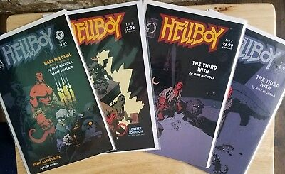 Hellboy: Box Full of Evil #1, Wake The Devil #2 & The Third Wish 1 & 2 (9.0+)