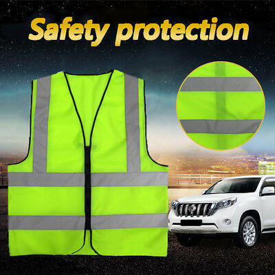 Reflective Strips Yellow Vest Outdoor Safety Clothes Running Neon Survive Waist
