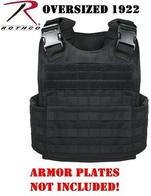 Black ( OVERSIZED 2x/3x ) Plate Carrier MOPC Style For Armor Plates Rothco 1922