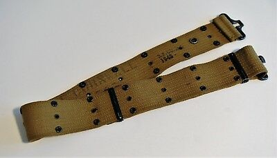 WW2 Original US Army M1936 Pistol Belt, marked name and serial #, 1943 OD3