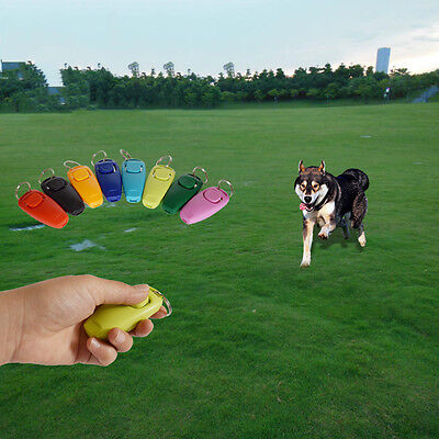 New Dog Clicker&Whistle-Training,Obedience,Pet Trainer Click Puppy With Guide