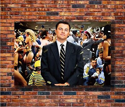 Art The Wolf Of Wall Street Leonardo DiCaprio -20x30 24x36in Poster Gift C3079