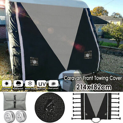 Caravan Front Tow Towing Cover Protector Waterproof Universal Snow UV Protection