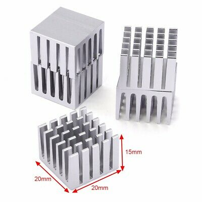 5 x CPU IC Chip Aluminum Heat Sink Extruded Cooler Heatsink 20x20x15mm Set