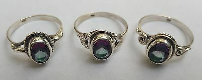 Assorted Mystic Topaz Silver Ring - 247B3 - 925 Real Sterling Silver