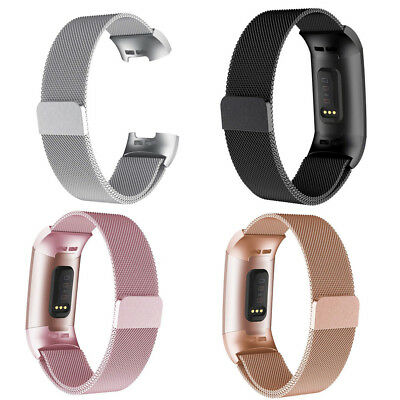 Wristband Metal Stainless Milanese Magnetic Loop Band Strap For Fitbit Charge3