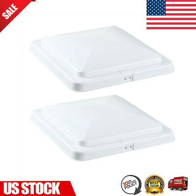 "2 Pack RV Roof Vent Cover Vent Lid Camper Trailer Motorhome Replacement 14""x14"""