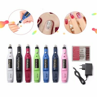 1set 6bits Power Drill Professional Manicure Machine Nail Electric Drill Pen Bit
