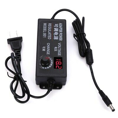 9-24V 3A 72W Speed Control Volt AC DC Adjustable Power Adapter Supply Display