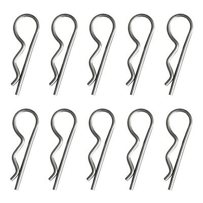 10Pcs Spring Splitters Set Spring Pin Stainless Steel Securing Retaining R Clips