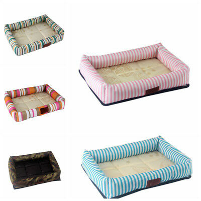 Small Medium Pet Dog Cat Bed Puppy Cushion House Soft Warm Kennel Mat Blanket AU