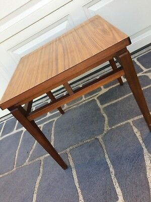 Vintage / Retro Sturdy Coffee Table with Copper Accents - Great Condition