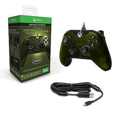PDP Wired Xbox One S X & Windows Controller Green NEW & SEALED
