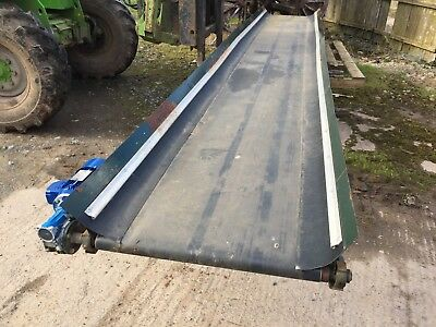 5.5 metre conveyor 700mm wide belt electric 3 phase motor