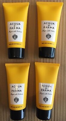 ACQUA DI PARMA COLONIA - SHOWER GEL ONLY- 4 PIECE GIFT SET - LARGE 75ml TUBES