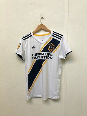 adidas LA Galaxy FC Men's 2018/19 MLS Home Jersey - Large - No Name - White -New