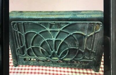 "VINTAGE HEATER WALL REGISTER GRATE  METAL Cover Architectural decor 16""x10"""