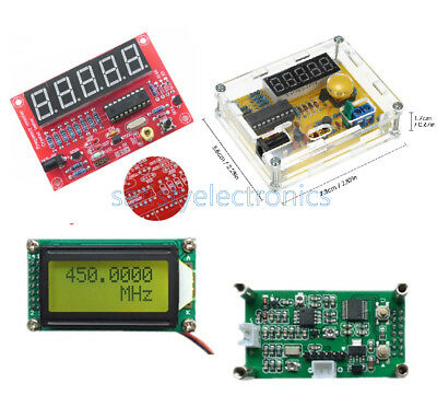 NEW 1MHz-1.1GHz 1Hz-50MHz Crystal Oscillator Tester Frequency Counter Meter