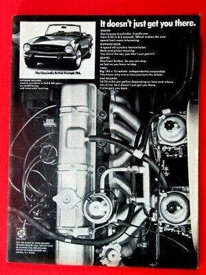 """1974 Triumph TR6 It Doesn't Just Get You There Original Print Ad-8.5 x 11""""-"""