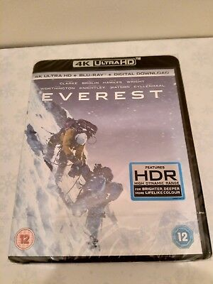 Everest 4K UHD + Blu-ray + Digital New & Sealed Features HDR High Dynamic Range