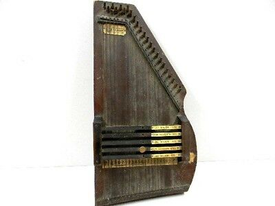 Vtg. Autoharp 1882 C. F. Zimmermann's Music Instrument Old, Crusty and Dusty