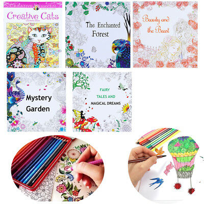 Enchanted Forest Mixed Styles Relieve Stress Coloring Book English Edition