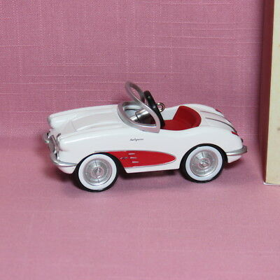 Hallmark Ornament 1958 Chevrolet Corvette Kiddie Car Classics Die-Cast Metal