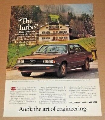 Vintage 1981 PRINT AD Audi 5000 Turbo - Advertisement