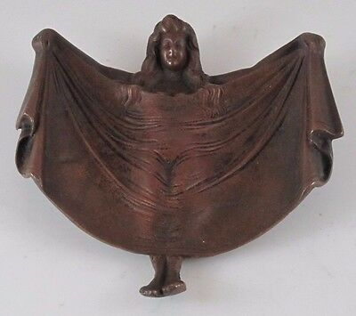Beautiful Young Lady Erotic Bronze Dish or Tray  JZ-0776