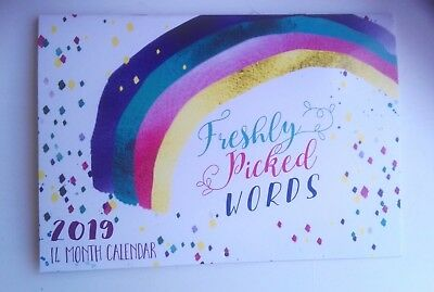Freshly Picked Words Calendar  2019 ,motivational, Inspirational Words Monthly