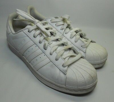 0e22a039f6dc Adidas Original Superstar Shell Toe Sneakers Shoe White Leather Men s Size  10M
