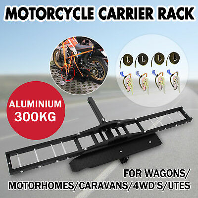 300kg Motorcycle Carrier Hauler Hitch Mount Rack motorbike Dirt Bike steel
