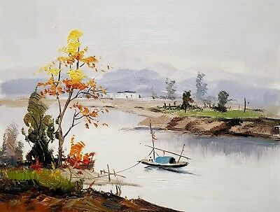Oriental Landscape, #4  12x16 100% Hand painted Oil Painting on Canvas,