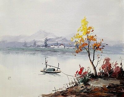 Oriental Landscape, #7  12x16 100% Hand painted Oil Painting on Canvas,