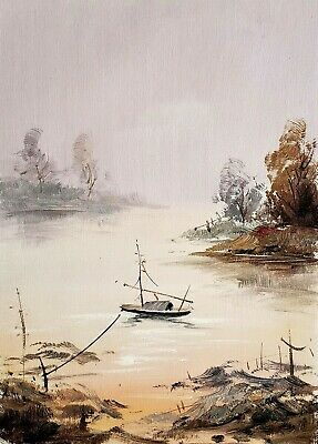 Oriental Landscape, #8  12x16 100% Hand painted Oil Painting on Canvas,