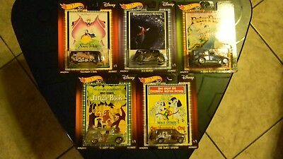 Hot Wheels 2018 Pop Culture Disney Set of 5 Mickey Jungle Book Snow White