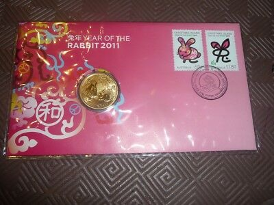 2011 $1 unc coin PNC - Year of the Rabbit
