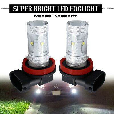 2x H11 H8 LED Fog Light 30W 2835 Projector Driving DRL 6000k White HID Bulb