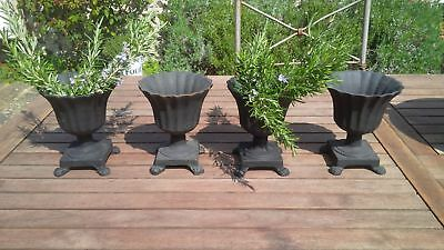 Charming new cast iron French 17cm miniature urns