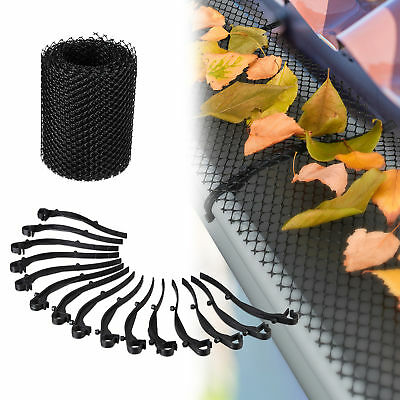 6 Metre Roll of Black Guttering Mesh, Leaf Guard, Eaves Protector, Barrier